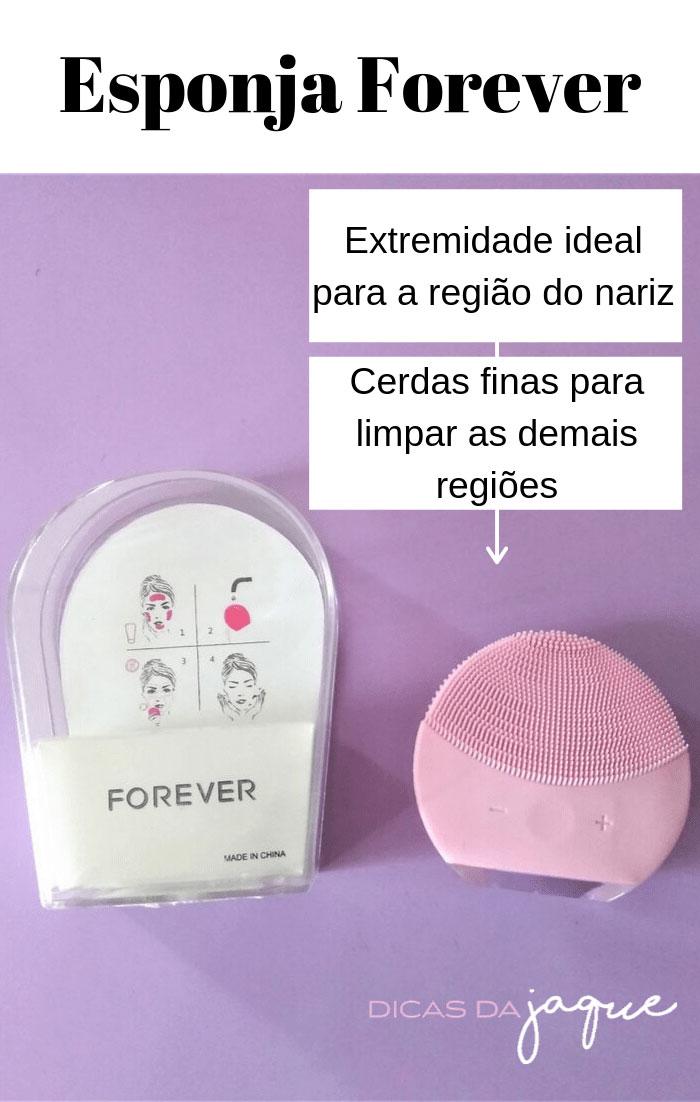 Esponja Forever resenha- Dicas da Jaque