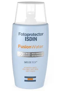 Protetor solar fusion water ISDIN para pele oleosa- Dicas da Jaque
