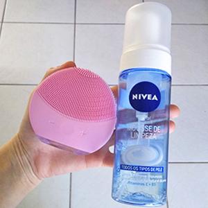 Passo 2 aplicar o sabonete ou espuma no rosto- Dicas da Jaque