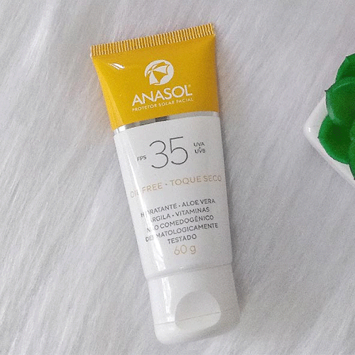 Protetor solar facial Anasol FPS35- toque seco