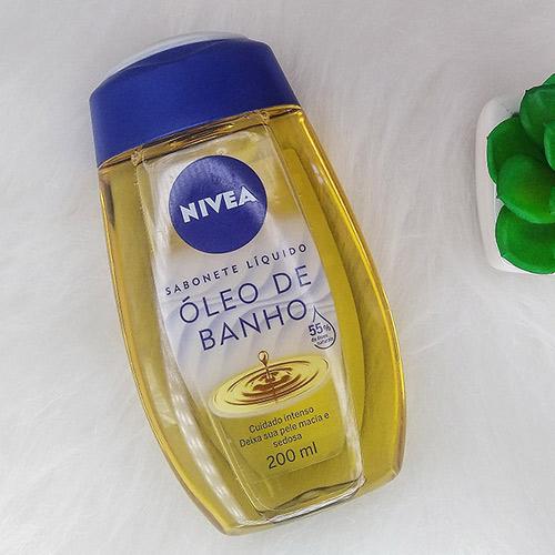 Óleo de banho Nivea- sabonete liquido corporal