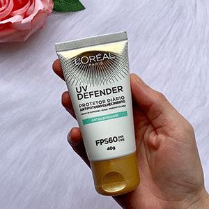 Protetor Solar UV Defender L'Oréal Paris Antioleosidade- Dicas da Jaque